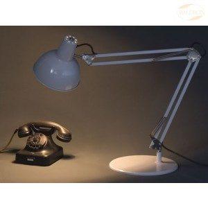 Arbeidslampe: Klassisk skrivebordslampe, fjæret