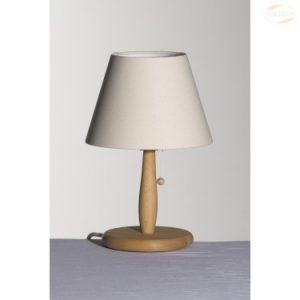 Bordlampe i Bøketre, bommull naturhvit