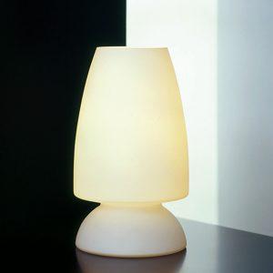 Opalglass Bordlampe, H= 27cm