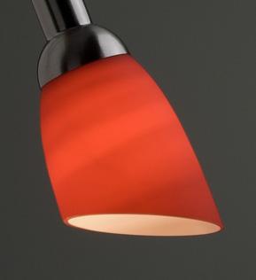 Lysdusj Lampeskjerm i glass, rød 8831