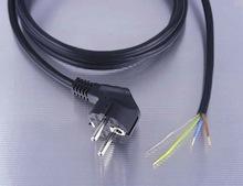 Strømtilkoblingskabel, åpen i enden, 2m, 1,0mm², sort