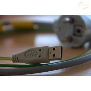 Jordingskabel for PC – i USB porten -, 2 m, grå
