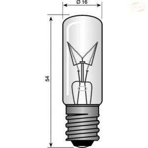 Lyspære E14 dråpeform 5 W klar