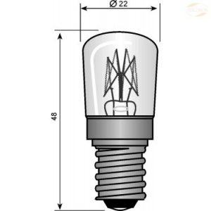 Lyspære E14 dråpeform 25 W klar
