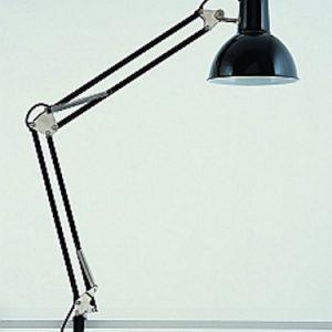 Skrivebordslampe fjæret sort