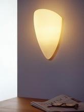 Vegglampe Opalglass, oval, E14/40W geschlossen 23 x 14cm