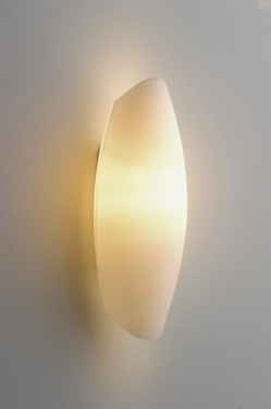 Vegglampe Piemont Opalglas, E14/40W, 30 x 10cm