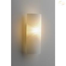 Vegglampe Opalglass, Rektangulær åpen, E14/40W, 28 x 12cm