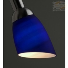 Lysdusj Lampeskjerm i glass, blå 8887