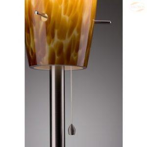Lampeskjerm til Piemont bordlampe, Opalglass, Rav