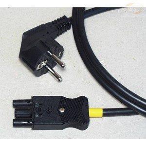 Power skjøteledning, black, 0,5m, Schuko plug to socket