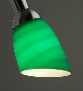 Lysdusj Lampeskjerm i glass, grønn 8837