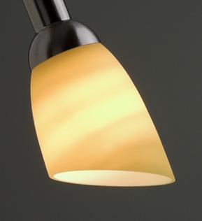 Lysdusj Lampeskjerm i glass, gul 8843