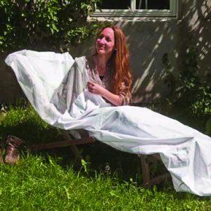 Sovepose i skjermende stoff, Naturell Ultima, ekstra bredde 120 x225 cm