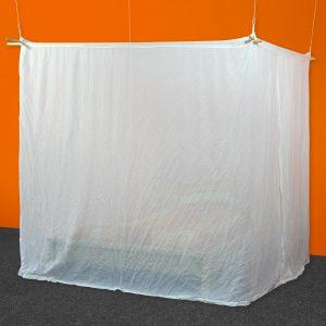 Baldakin NATURELL (bomull) terningform, dobbeltseng (220 cm x 220 cm)