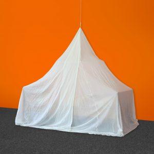 Baldakin NATURELL (bomull) pyramideform, enkeltseng