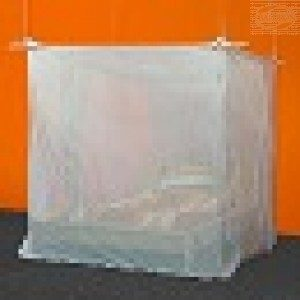 Shielding canopy, Box double bed, SILVER-TULLE