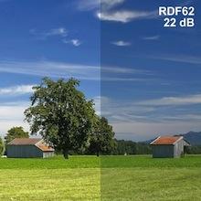 Abschirmende Fensterfolie RDF62 | Breite 76 cm | 1 Laufmeter
