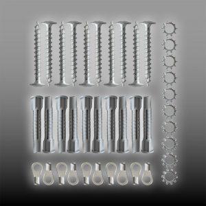 Jordingssett til skjermingsfolie for magnetfelt