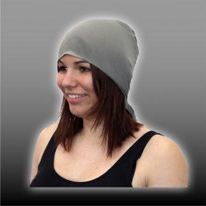 Pannebånd / Headgear i sølv-elastikk til skjerming av hodet