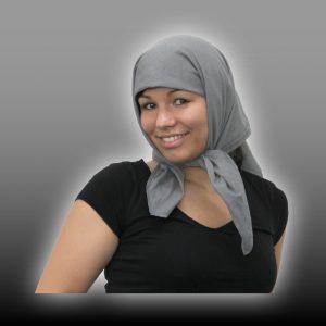 Abschirmendes Kopftuch aus Steel-Gray TKG