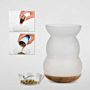 Aromalampe Luzerna med Flower of Life