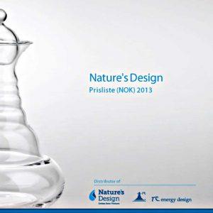 Prisliste NOK 2013 Nature's Design