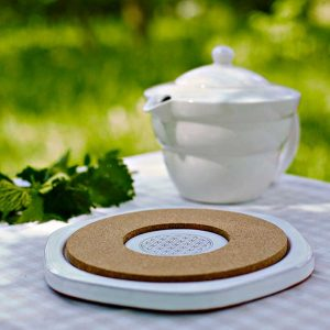 Natures design energiplate i keramikk, varmebestandig