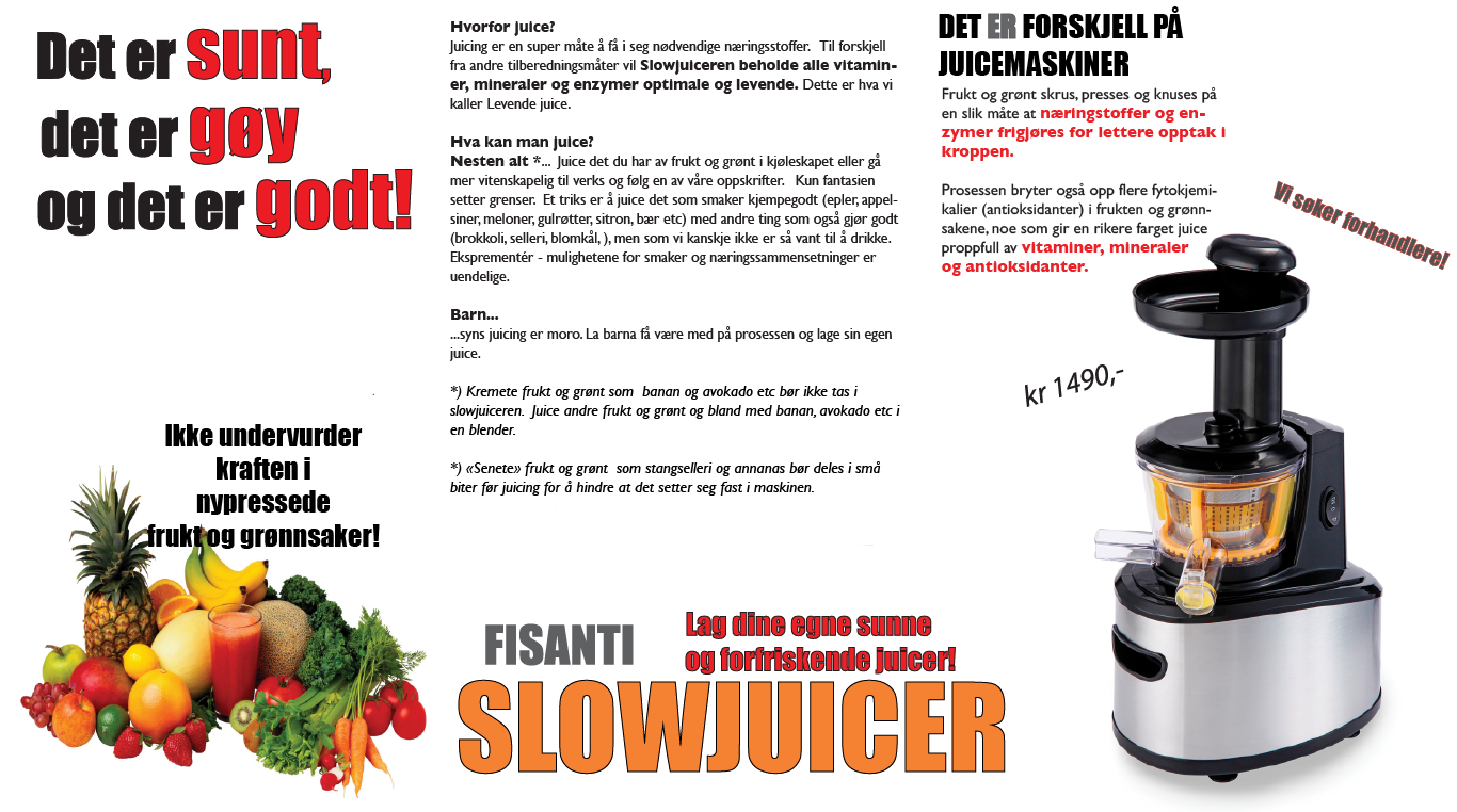 Slowjuicer Handpers : Slowjuicer Fisanti HELSEFORHANDLEREN