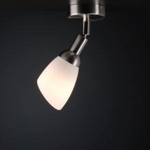 Deckenleuchte Lichtdusche Glasreflektor weiss, Drehkippgelenk