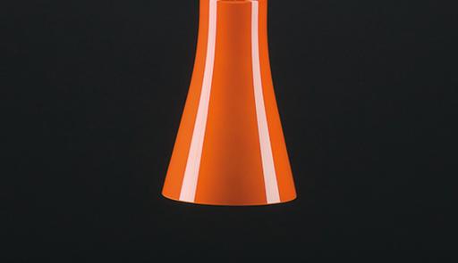 Pendelleuchte Toskana orange glänzend, (d=20 H=31cm), inkl.41-7600