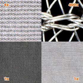 HF+LF, Shielding fabric SILVER-TRICOT, Width 140 cm, 1 meter