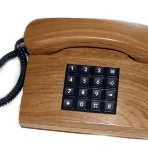 PIezo telephone in real oak