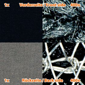 Shielding fabric BLACK-TRICOT, Width 137 cm, 1 meter