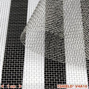 Skjermende netting i edelstål V4A10, HF+LF, Width 90 cm. 25m rull