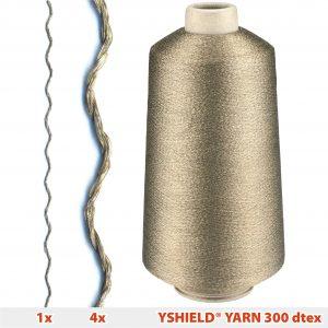 Silvered ply yarn Y300, Cone 23 cm, 14625 meter