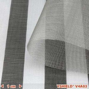 Skjermende netting i edelstål V4A03, HF+LF, bredde 100 cm