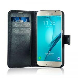 "Flip-side mobildeksel ""Fashion"" til Samsung S6 – Svart – 86% beskyttelse (RAD103)"